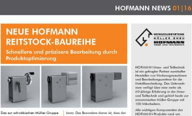 News from HOFMANN